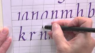 getlinkyoutube.com-Calligraphy for Beginners - How to Write a Lower Case Italic Alphabet w/Joanne Fink
