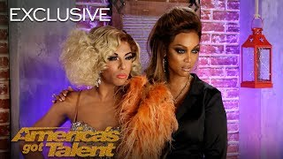 Tyra Banks Teaches Drag Queen Superstar Shangela How To Smize - America's Got Talent 2018