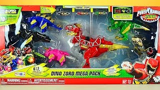 getlinkyoutube.com-Power Rangers Dino Charge Dino Zord Mega Pack Review!
