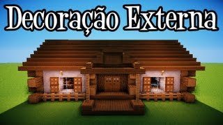 getlinkyoutube.com-Tutoriais Minecraft: Decoraçao Externa da Casa Rustica