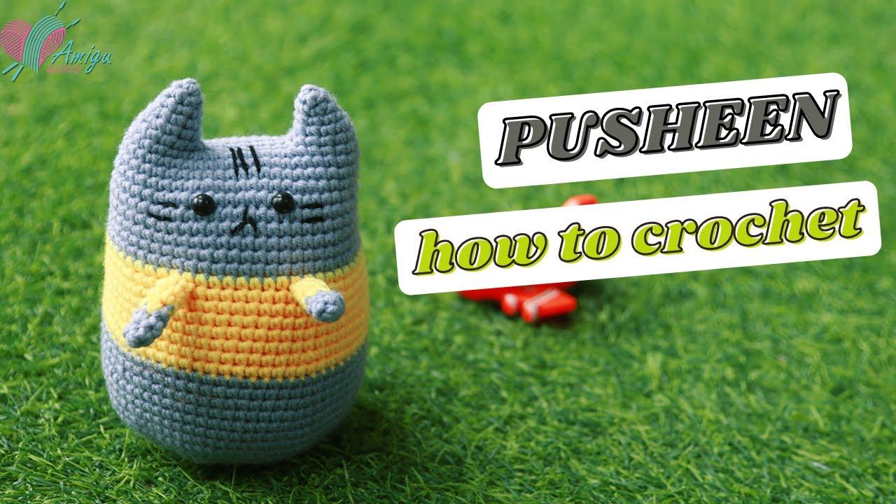 Hướng dẫn móc bạn Pusheen đáng yêu bằng len