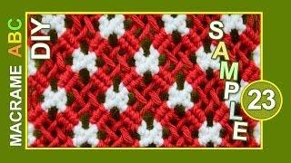 getlinkyoutube.com-Macrame ABC - pattern sample #23