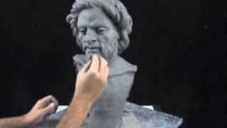 getlinkyoutube.com-Sculpture demo - how to sculpt a portrait bust