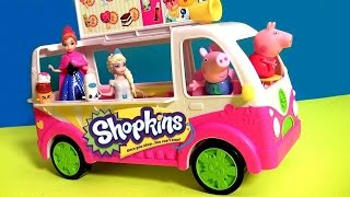 getlinkyoutube.com-Shopkins Scoops Ice Cream Truck Playset with Disney Frozen Anna Elsa - Camion de Helados Shopkins