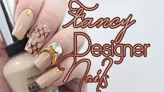 getlinkyoutube.com-Fancy Designer Nail Art | Coach Inspired