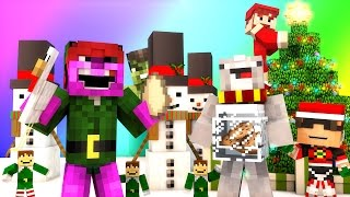 Minecraft Mini-Game : DO NOT LAUGH CHRISTMAS SPECIAL! (SANTA BURGLAR AND HULK GRINCH!) w/ Facecam