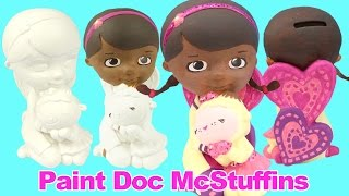 getlinkyoutube.com-DOC MCSTUFFINS Paint Your Own Toy Figure How-to Disney Junior Painted by GlitterRainbowToys