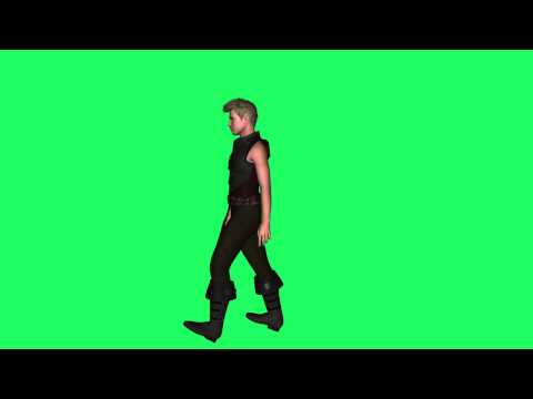 knight moving green screen effect