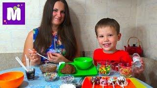getlinkyoutube.com-Шоколадные конфетки на палочке с нутеллой делаем дома cake pop make at home