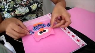 Como fazer caderno EVA coruja