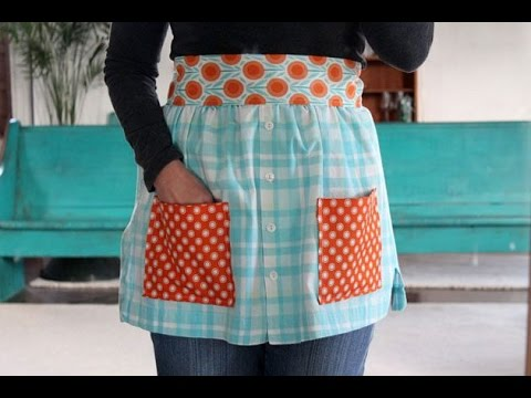 How to Make an Apron From Shirts