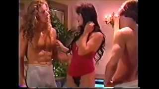 Asia Carrera with husband and 3 some width=