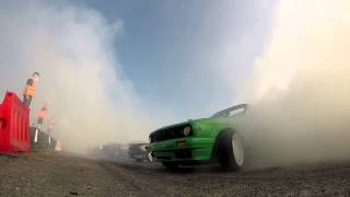 getlinkyoutube.com-2014 New Guinness World Record BURNOUT! - BackStage by Kermit the Driftcar