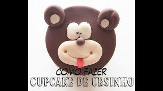 getlinkyoutube.com-Como Fazer Cupcake de Ursinho Pasta Americana