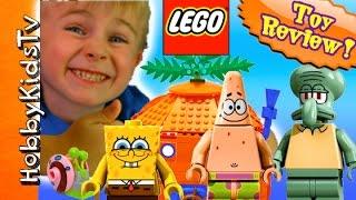getlinkyoutube.com-Spongebob House + Boatmobile CRASH! LEGO Kit #3834 HobbyKidsTV