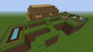 getlinkyoutube.com-Tutorial como hacer una super casa Minecraft