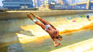 getlinkyoutube.com-GTA V Unbelievable Crashes/Falls - Episode 11