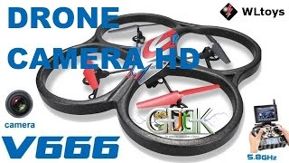 getlinkyoutube.com-Drone camera HD WLtoys V666 Test video