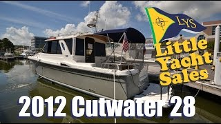 getlinkyoutube.com-2012 cutwater 28 for sale at Little Yacht Sales, Kemah Texas