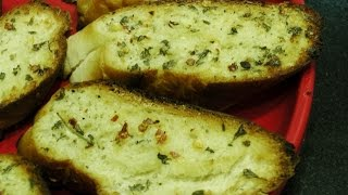 getlinkyoutube.com-Garlic Bread Recipe by madhurasrecipe