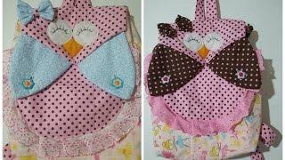 getlinkyoutube.com-Como fazer mochila infantil de coruja (how to make a backpack)