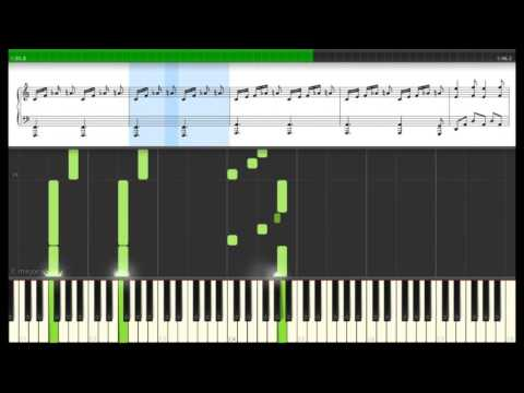 Westworld Main Theme - Synthesia Tutorial (with sheet music)