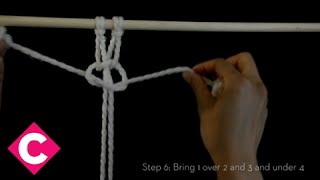 getlinkyoutube.com-DIY Macrame: Square knot (left facing)