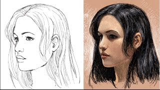 getlinkyoutube.com-como dibujar la cara de tres cuartos (explicado)