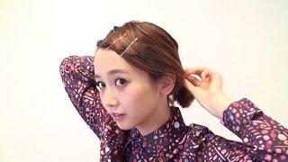 getlinkyoutube.com-HOW TO ヘアアレンジ/前髪が短くてもできるラフひとつ結び - 三戸なつめ