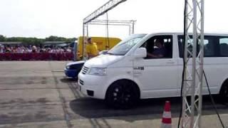 getlinkyoutube.com-TH2 (VW T5 mit Porsche Motor) gegen VW Polo beim 1/4 Meile Rennen Race@Airport in Werneuchen 2009