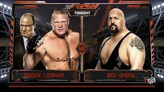getlinkyoutube.com-WWE 2k16 - Brock Lesnar VS Big Show