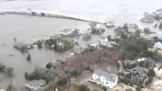 getlinkyoutube.com-Aerial View of New Jersey Coastline near Seaside Heights after Hurricane Sandy