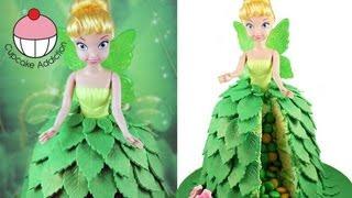 getlinkyoutube.com-Make a TINKERBELL Fairy Princess SURPRISE PINATA Cake! A Cupcake Addiction How To Tutorial