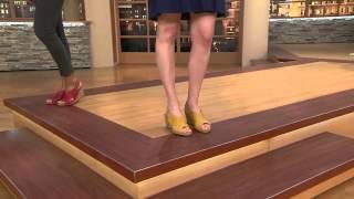 getlinkyoutube.com-Clarks Nubuck Wedge Sandals with Backstrap - Helio Float with Pat James-Dementri