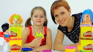 getlinkyoutube.com-Парикмахерская (Видео для детей) и Пластилин ПЛЕЙ ДО. Игры для девочек - Модная стрижка.