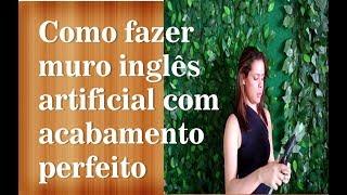 getlinkyoutube.com-Diy - Faça você mesmo Muro inglês artificial  para festas