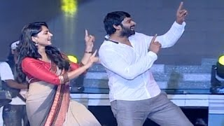 VIDEO : Prabhas Dance On Stage  - Anushka Shetty - SS Rajamouli - Baahubali 2 Trailer Released