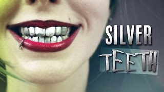 getlinkyoutube.com-Silver Grillz! Dientes Metálicos · How to make fake metallic Joker teeth denture with thermoplastic
