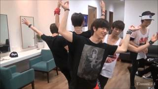 BTOB dancing to EXO - Wolf