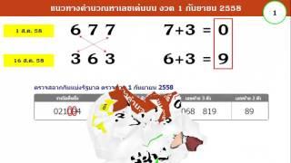 getlinkyoutube.com-สูตรหวยเด็ด ไขว้นำโชค มาแรงต่อเนื่อง สถิติ 10 งวด เข้า 9 งวด