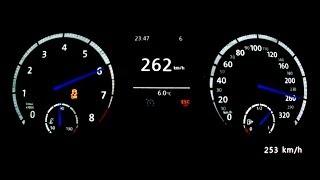 getlinkyoutube.com-VW Golf VII R 2014 - acceleration 0-250 km/h, top speed test and more