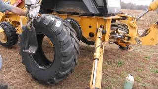 New Tires For The Backhoe