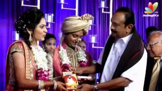 getlinkyoutube.com-Governer Rosaiah, Vaiko, Sathyaraj at Vijay Tv Anchor Ramya and  Aparajith Marriage Reception