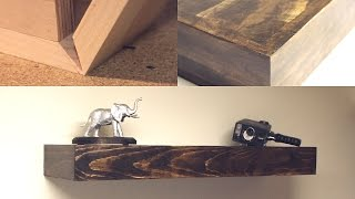 getlinkyoutube.com-DIY Seamless Rustic Floating Shelves