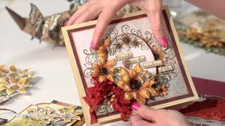 getlinkyoutube.com-Classic Sunflower Card Making Techniques & Flower Shaping - Heartfelt Creations