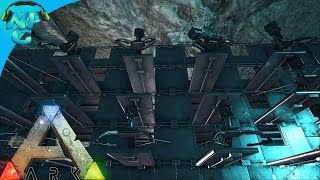 getlinkyoutube.com-Raiding the Underwater Cave Base, Passing the Turret Wall! ARK Survival Evolved - PvP Season E36