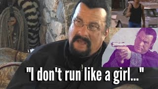 MARTIAL ARTS FUNNY: Steven Seagal (Aikido Master) Runs Like A Girl! - Seagal Running Compilation