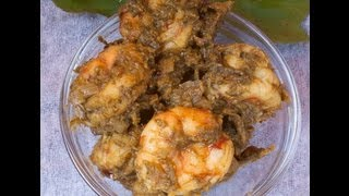 Prawns - Shrimp cooked in sour greens gongura ..