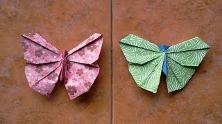 getlinkyoutube.com-How to make Origami Butterfly