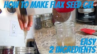 Natural Hair Gel from Flaxseeds - Only 2 Ingredients!